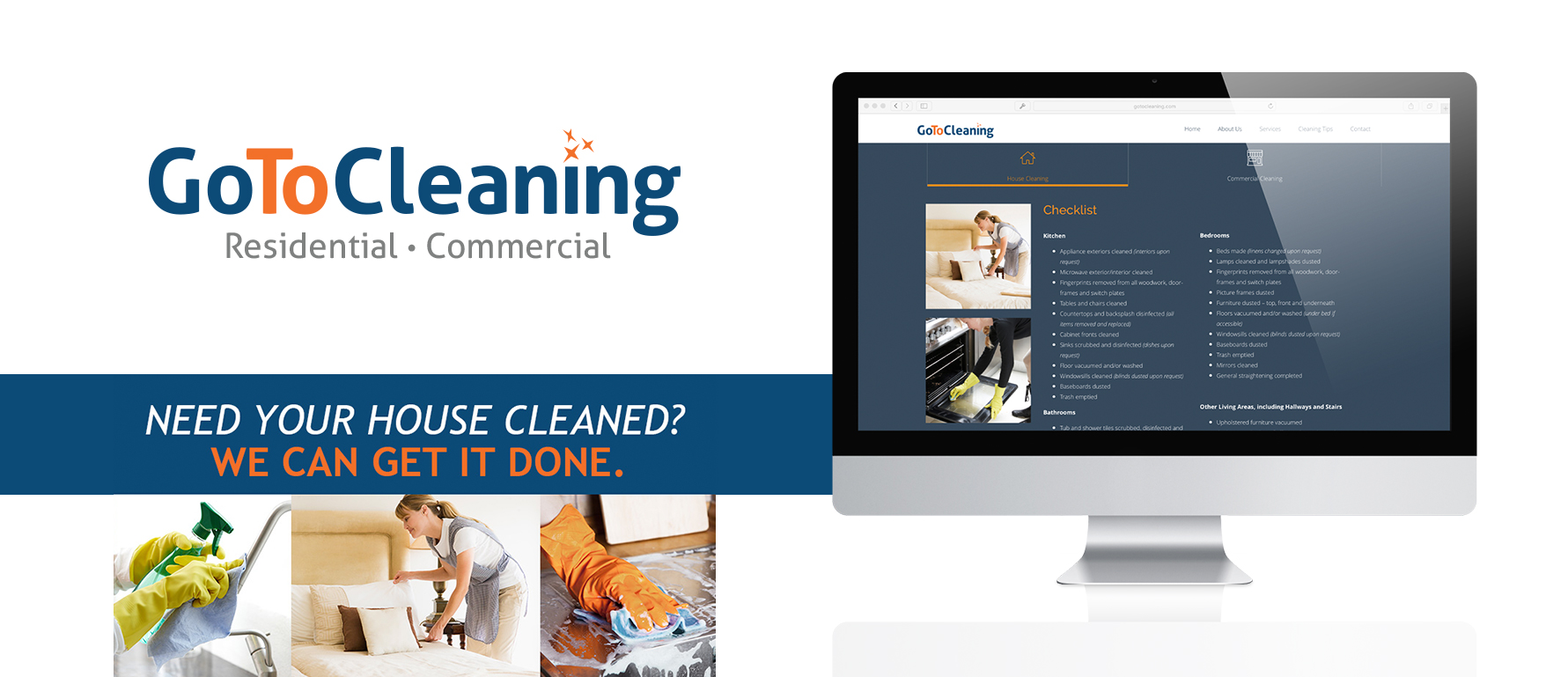 Go To Cleaning Branding and Web